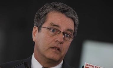 O diretor-geral da Organização Mundial de Comércio (OMC), Roberto Azevêdo Foto: Givaldo Barbosa / Agência O Globo