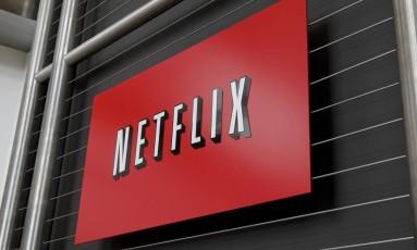 Logo da Netflix na sede da empresa, em Los Gatos, na California Foto: RYAN ANSON / AFP