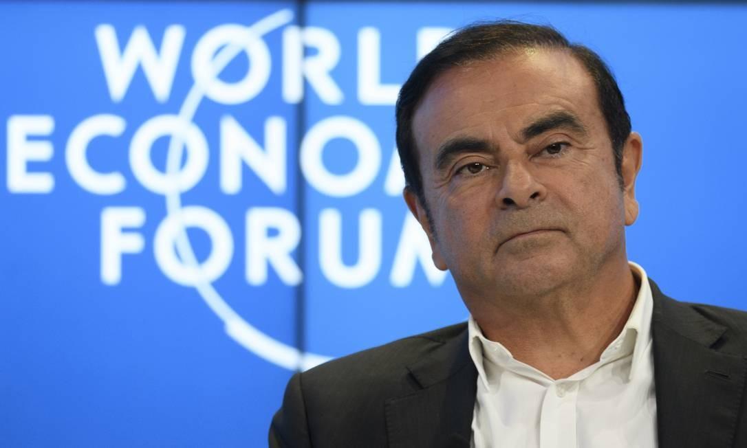 O brasileiro Carlos Ghosn deve enfrentar nova acusação de divulgação de comunicados falsos Foto: Gian Ehrenzeller / AP