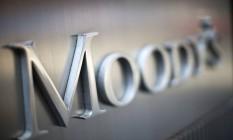 Logo da Moody's na sede da agência, em Nova York Foto: Ramin Talaie / Bloomberg