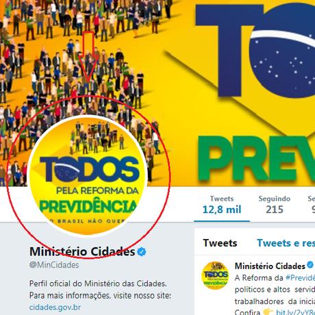 Propaganda cortadano Twitter do Ministério das Cidades Foto: Reprodução