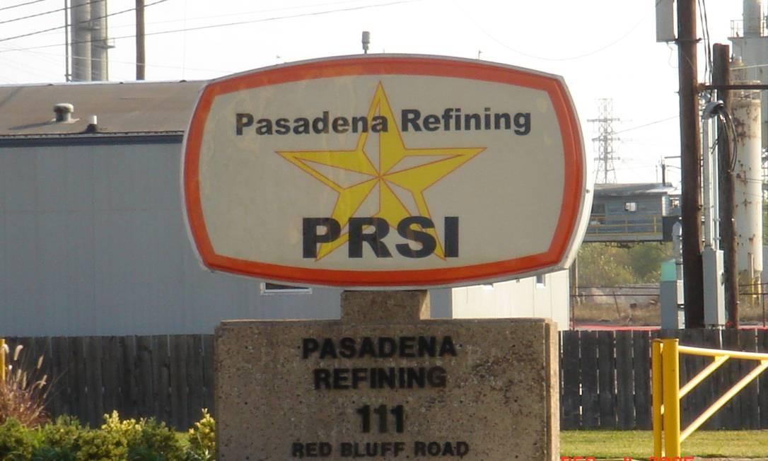 Refinaria Pasadena da Petrobras, nos EUA Foto: Agência Petrobras