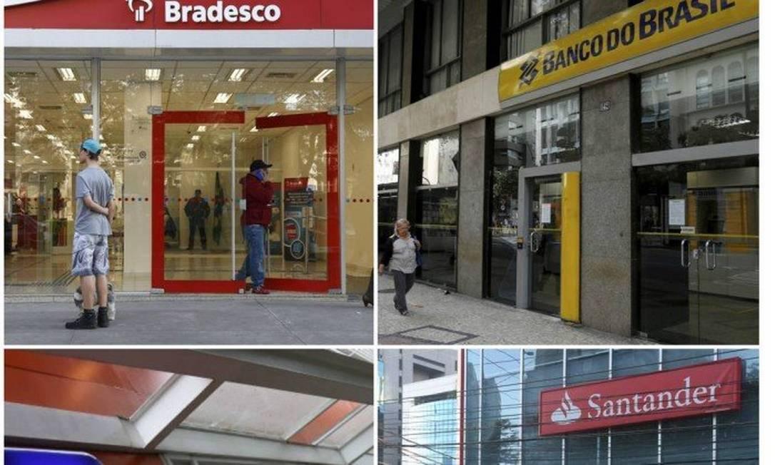 Montagem com os quatro principais bancos do país Foto: Criação O Globo
