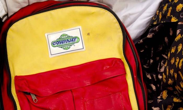 Uma das versões da clássica mochila da Company Foto: Bia Guedes:Bianca Guedes / Bia Guedes / Agência O Globo.