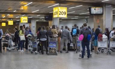 Aeroporto Internacional de São Paulo / Guarulhos - Governador André Franco Montoro Foto: Edilson Dantas / Agência O Globo
