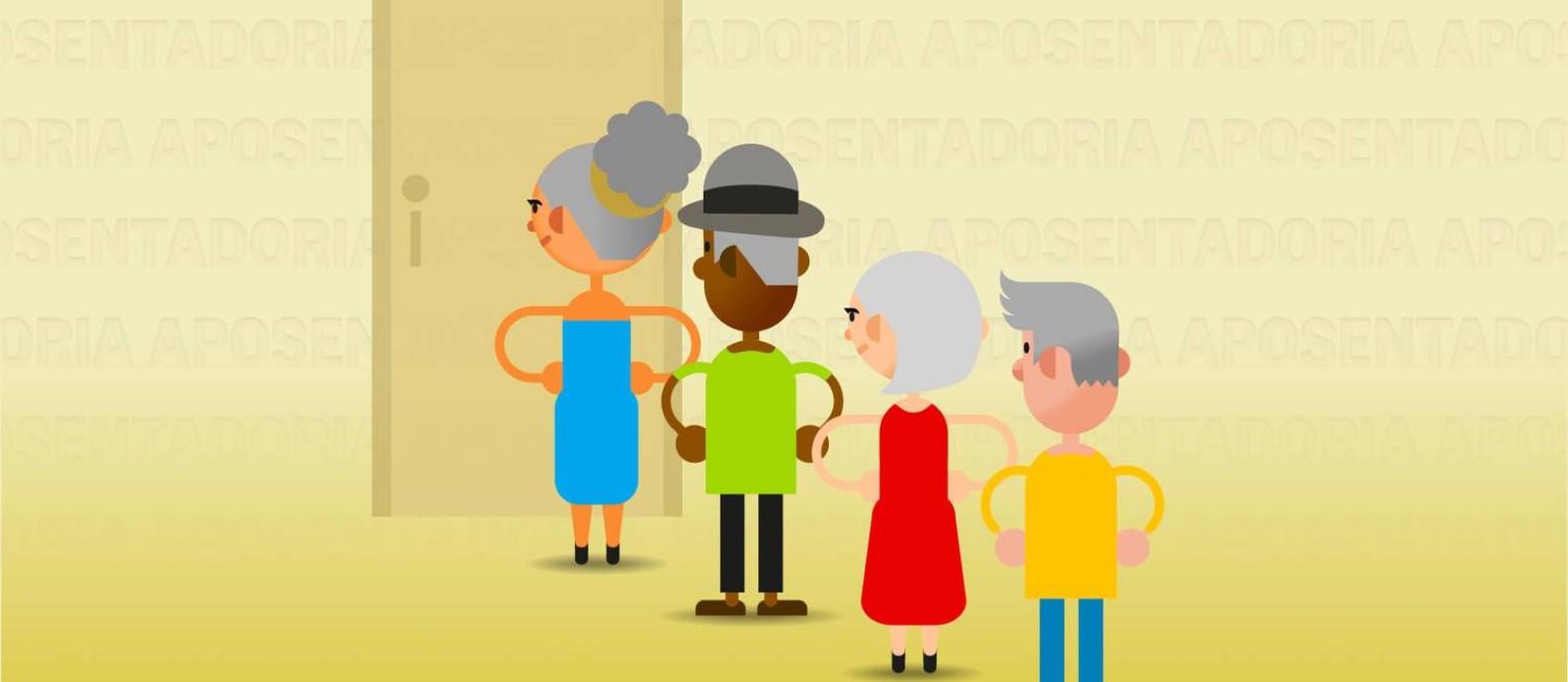 Quem fica desempregado perto da aposentadoria enfrenta dificuldades Foto: Editoria de Arte