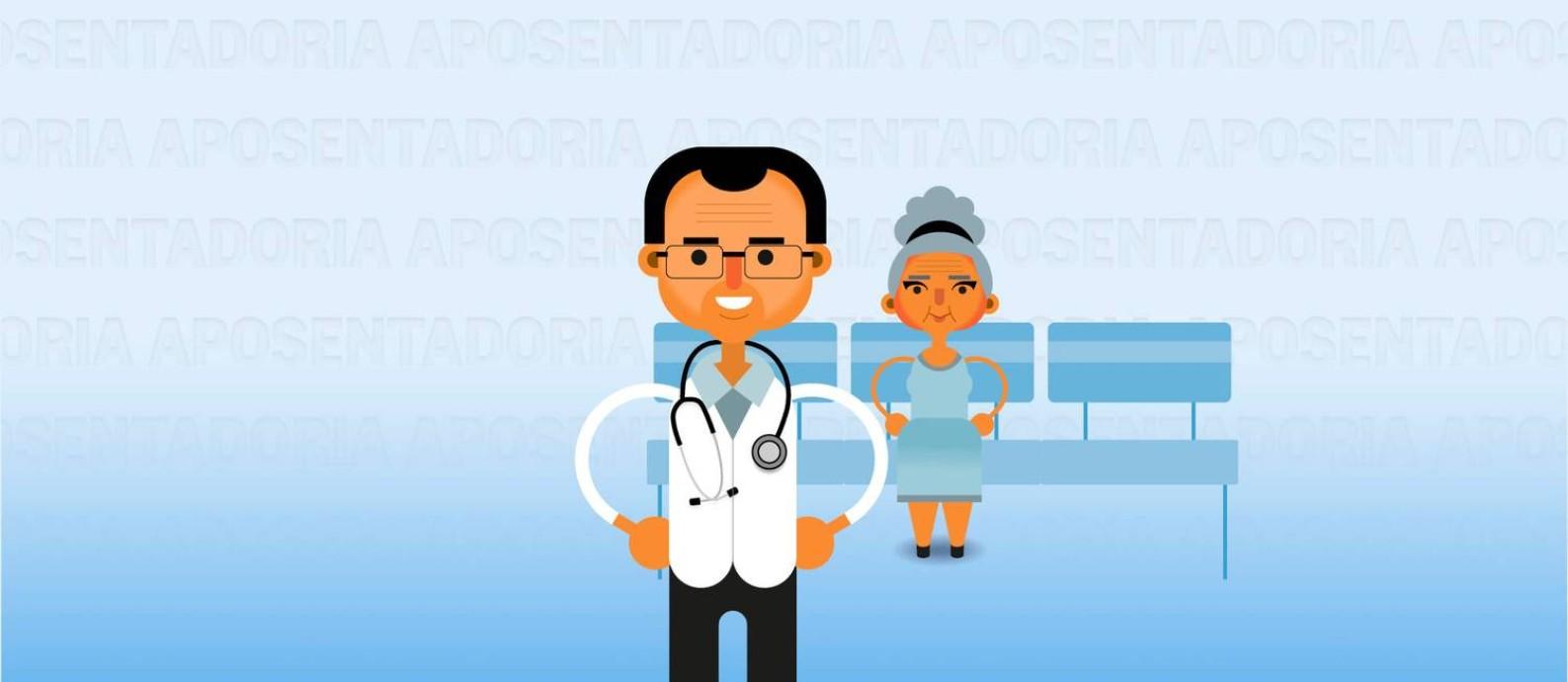 Plano de saúde é um dos principais custos na terceira idade Foto: Editoria de Arte