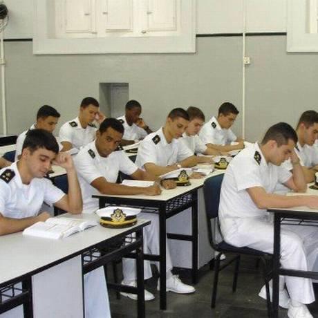 Sala de aula do Colégio Naval, em Angra Foto: Arquivo