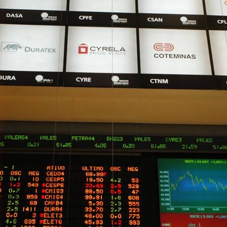 08.01.2007 - vania delpoio - globo - bolsa de valores - painel da cyrela no pregao - sao paulo - sp - digital Foto: Vania Delpoio / Arquivo