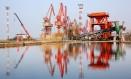 Porto de Nantong, no leste da província de Jiangsu, na China Foto: AFP