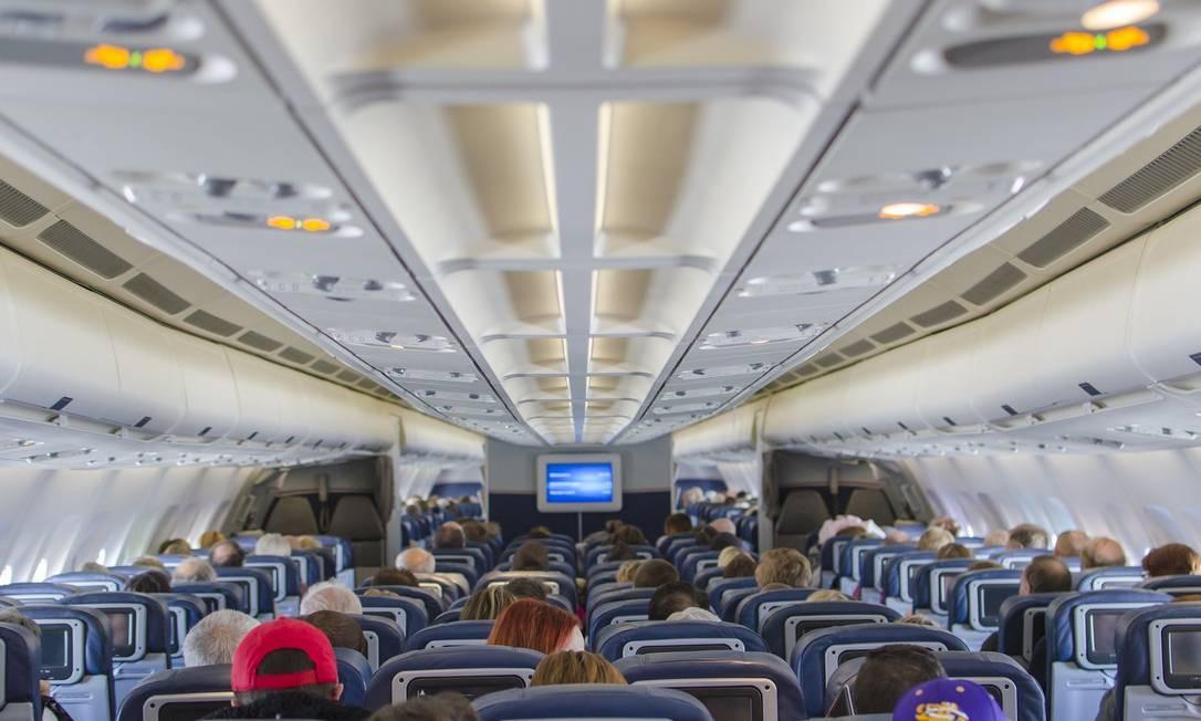 Cabine de avião. Foto: Pixabay