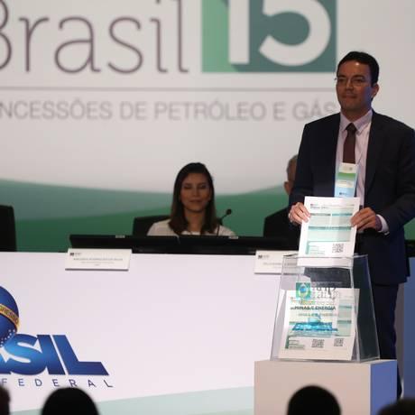 ANP - Leilão de áreas de petróleo - 15º Rodada de licitações Foto: Pedro Teixeira / Agência O Globo