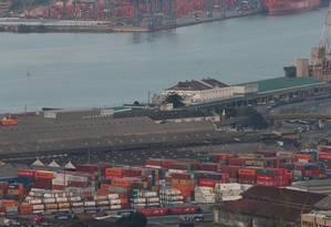 Porto de Santos, o maior do país Foto: Marcos Alves / Agência O Globo