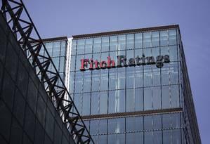 Prédio da agência Fitch, em Londres. Foto: Simon Dawson / Bloomberg