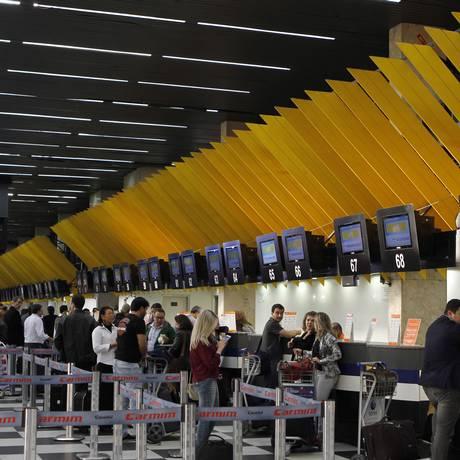 Aeroporto de Congonhas, que faz parte da rede de terminais da Infraero Foto: Agência O Globo