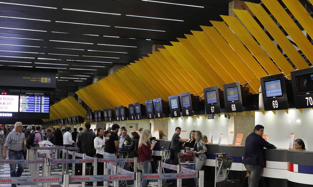 Aeroporto de Congonhas: Gol se torna líder no terminal, após compra da MAP, com 48% dos slots Foto: Michel Filho / Agência O Globo