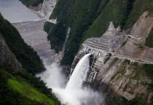 Chaglla, usina da Odebrecht no Peru Foto: Divulgação Odebrecht