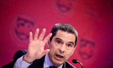 Vitor Gaspar, Diretor do FMI. Foto: BRENDAN SMIALOWSKI / AFP