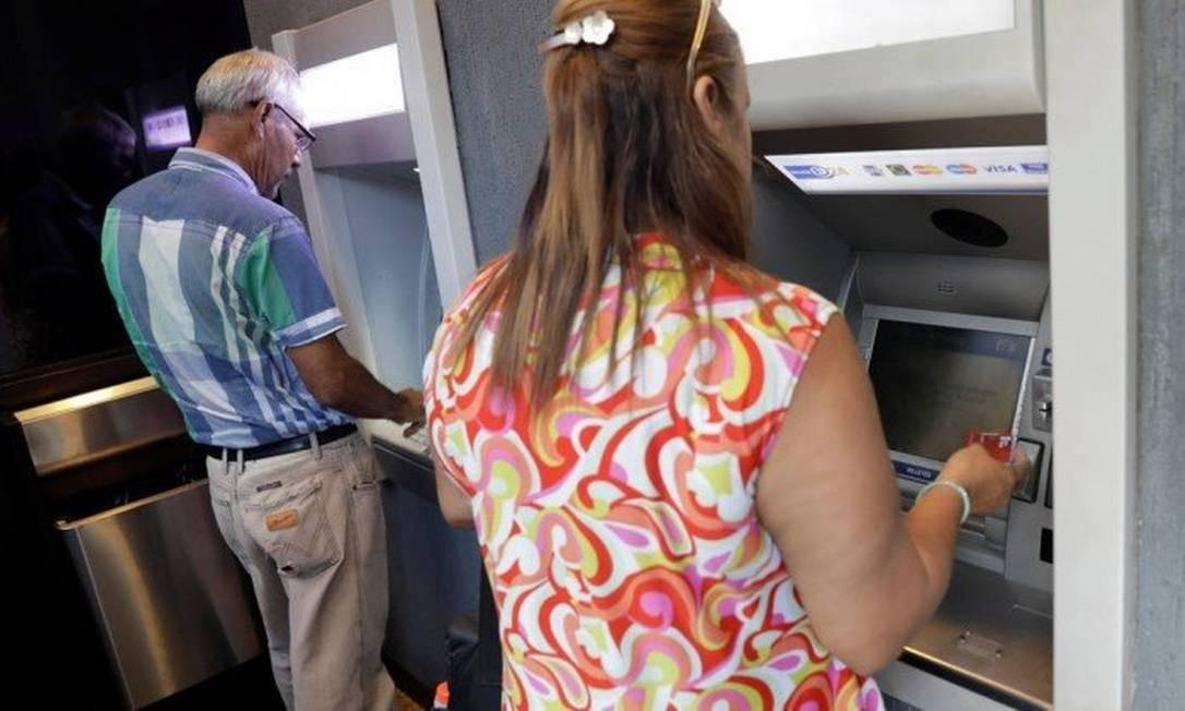 Caixa eletrônico Foto: Agência O Globo