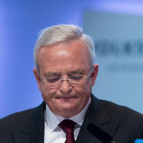 EX- CEO da Volkswagen Martin Winterkorn Foto: JOHANNES EISELE / AFP