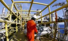 Reformas de plataformas da Petrobras na Bacia de Campos. Na foto, a P-37 Foto: Divulgação