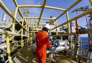 Reforma em plataformas da Petrobras na Bacia de Campos Foto: Divulgação