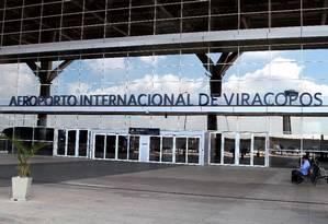 Aeroporto internacional de Viracopos, na cidade de Campinas (SP) Foto: Denny Cesare/Código 19 / Agência O Globo