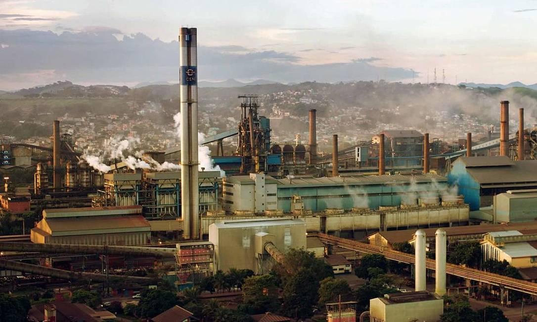 Vista aérea da CSN, em Volta Redonda Foto: Divulgação