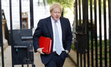 Boris Johnson, ministro das Relações Exteriores britânico Foto: Peter Nicholls / Reuters