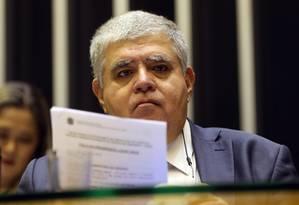 O ministro-chefe da secretaria de governo da presidência da república, Carlos Marun, no plenário da Câmara Foto: Givaldo Barbosa / Agência O Globo