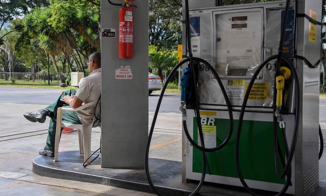 Posto de gasolina da BR em Brasília Foto: EVARISTO SA / AFP
