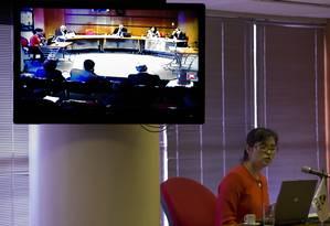 Julgamento na CVM de caso envolvendo o empresário Eike Batista, em 2015 o Foto: Antônio Scorza / O Globo
