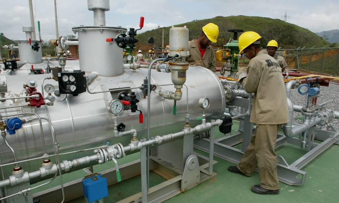 Estação de gás natural em Paracambi Foto: William de Moura / Agência O Globo