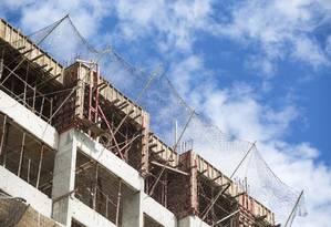 Prédio em construção no Rio de Janeiro Foto: Ana Branco / Ana Branco/20-11-2015