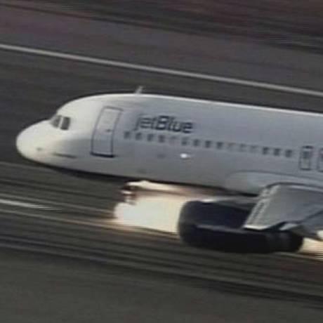 Avião da JetBlue - Airbus A320. Foto: Reprodução de TV