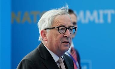 Presidente da Comissão Europeia, Jean-Claude Juncker, se reunirá com Trump no dia 25 de julho, em Washington Foto: POOL / REUTERS