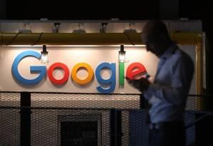Logotipo da Google Foto: Krisztian Bocsi / Bloomberg