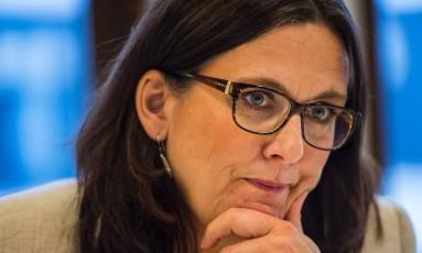 Comissária Europeia de Comércio, Cecilia Malmström Foto: Divulgação