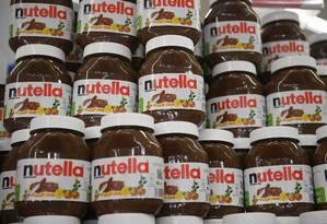 Potes de Nutella à venda na Alemanha Foto: DAMIEN MEYER / AFP