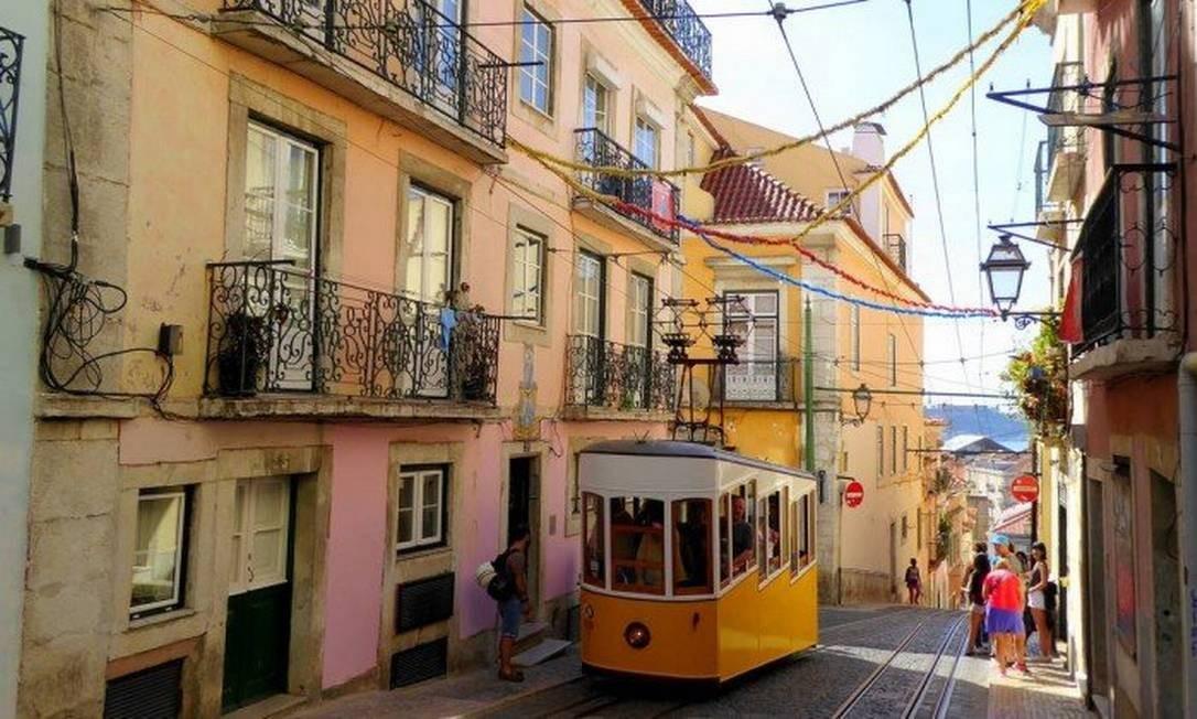 Bonde em ladeira de Lisboa: boom imobiliário elevou os preços dos imóveis na capital portuguesa Foto: Pixabay
