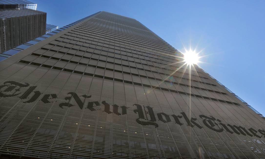 A sede do The New York Times, em Nova York Foto: Brendan McDermid/Reuters / REUTERS