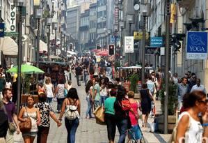 Comércio nas ruas de Lisboa Foto: Reprodução