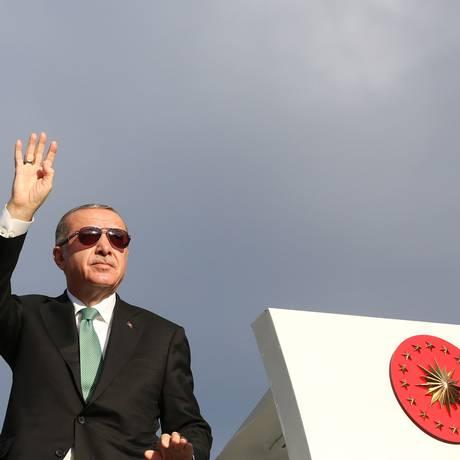 O presidente turco, Erdogan Foto: MURAT KULA / AFP