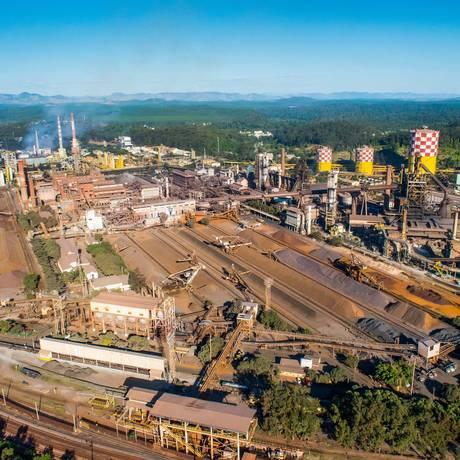 Vista aérea da Usina de Ipatinga/MG, onde houve três acidentes em uma semana Foto: Photo Press / Agência O Globo / Agência O Globo
