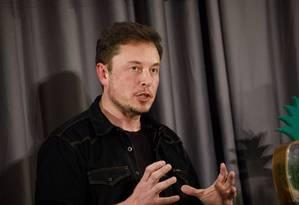 Elon Musk, CEO da Tesla Foto: Patrick T. Fallon / Bloomberg