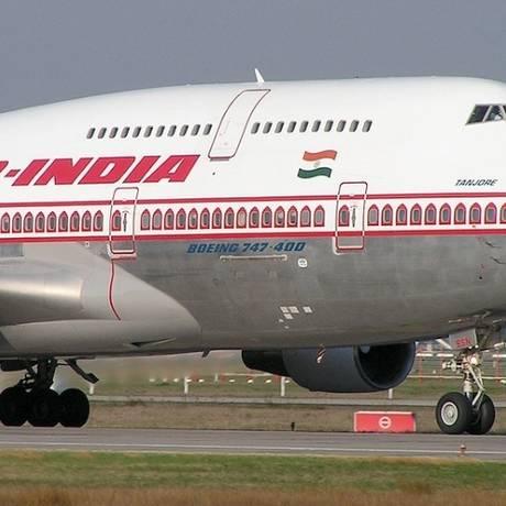 Avião da Air Índia Foto: Divulgação