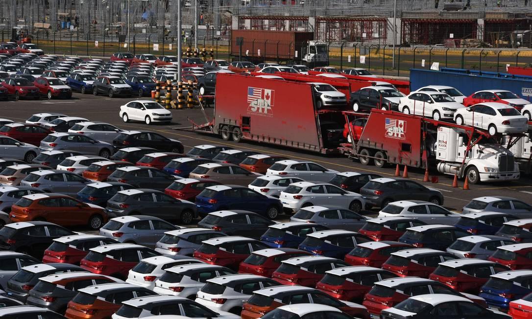 Porto de Vara Cruz, no México. Acordo garante proteção à produção automotiva de Canadá e México Foto: VICTORIA RAZO / AFP