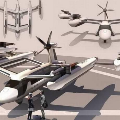 Uber Elevate, projeto de transporte aéreo do Uber Foto: Divulgação Uber