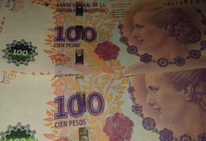 Nota de cem pesos argentinos Foto: Pixabay