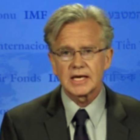 Porta-voz do FMI, Gerry Rice Foto: Divulgação